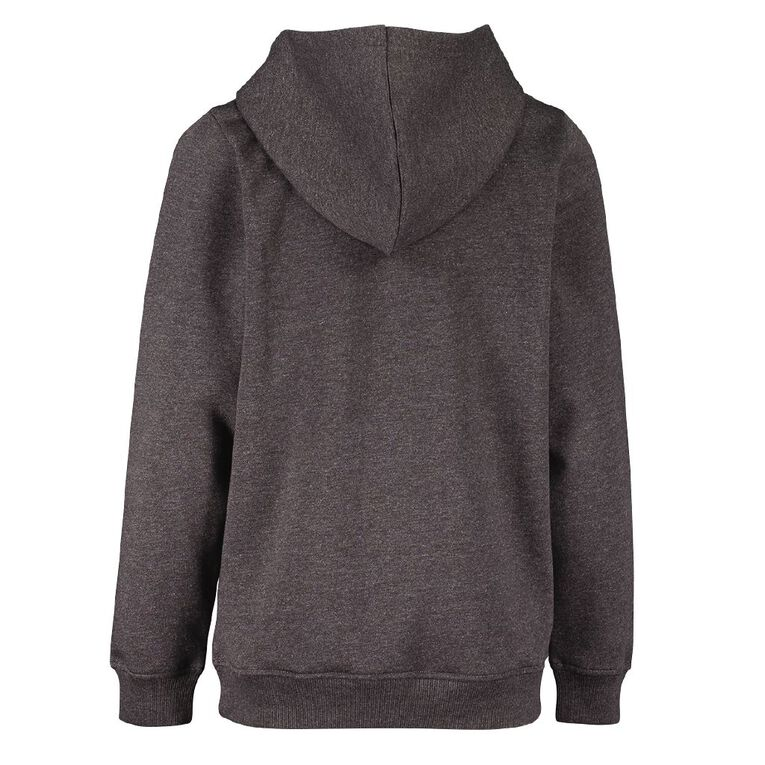Young Original Plain Pull Over Hoodie, Charcoal/Marle, hi-res