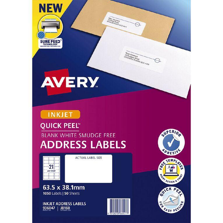 Avery Inkjet Labels J8160-50 Pack 50, , hi-res