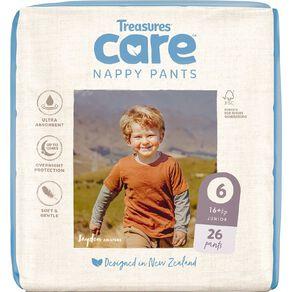 Treasures Care Nappy Pants 6 Junior Bulk 26pk