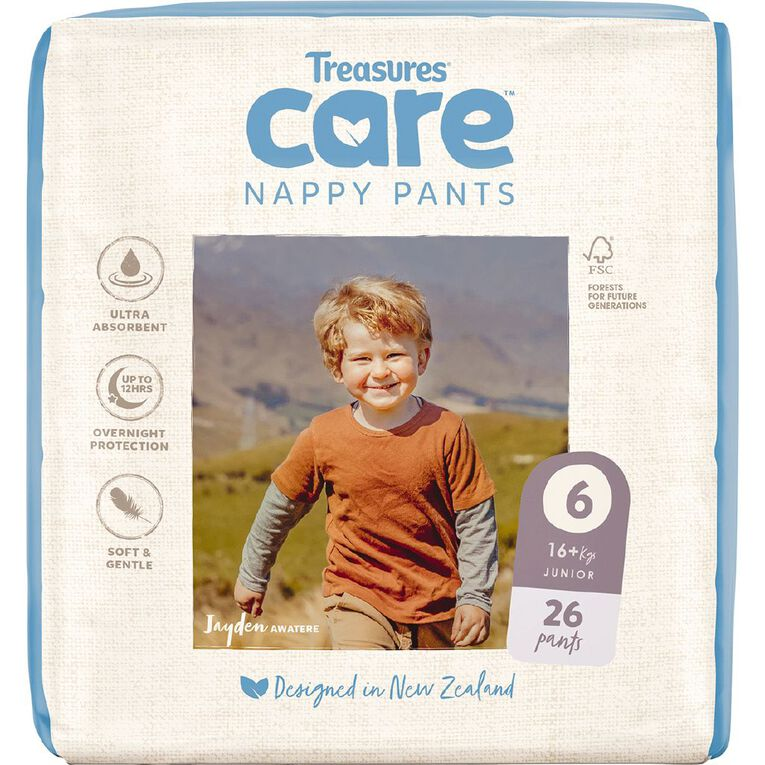 Treasures Care Nappy Pants 6 Junior Bulk 26pk, , hi-res