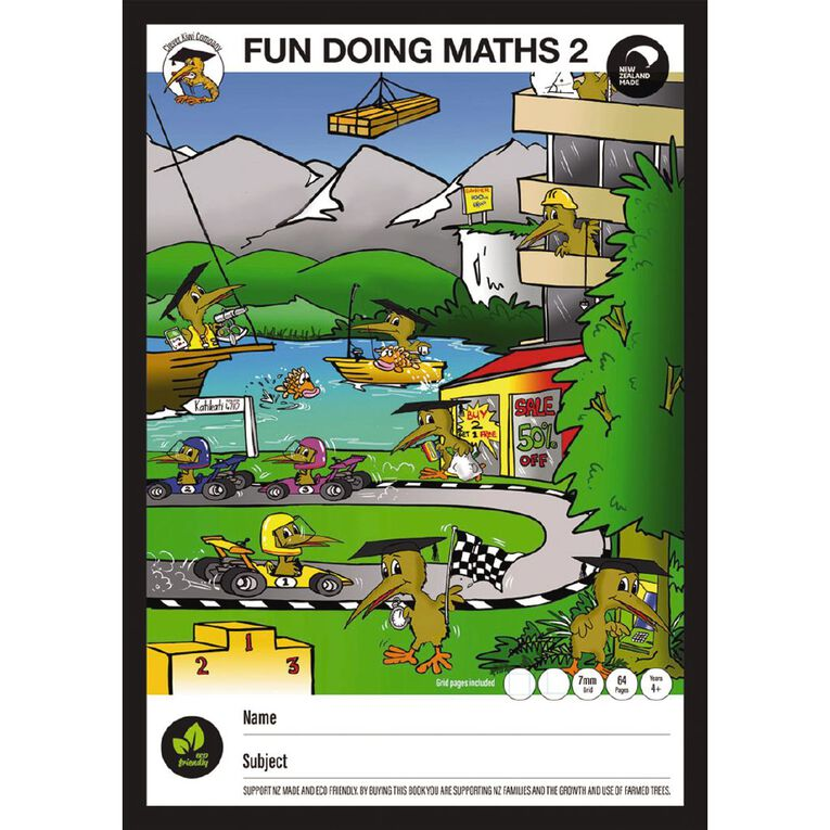 Clever Kiwi Fun Doing Maths Book 2 Year 4 plus, , hi-res