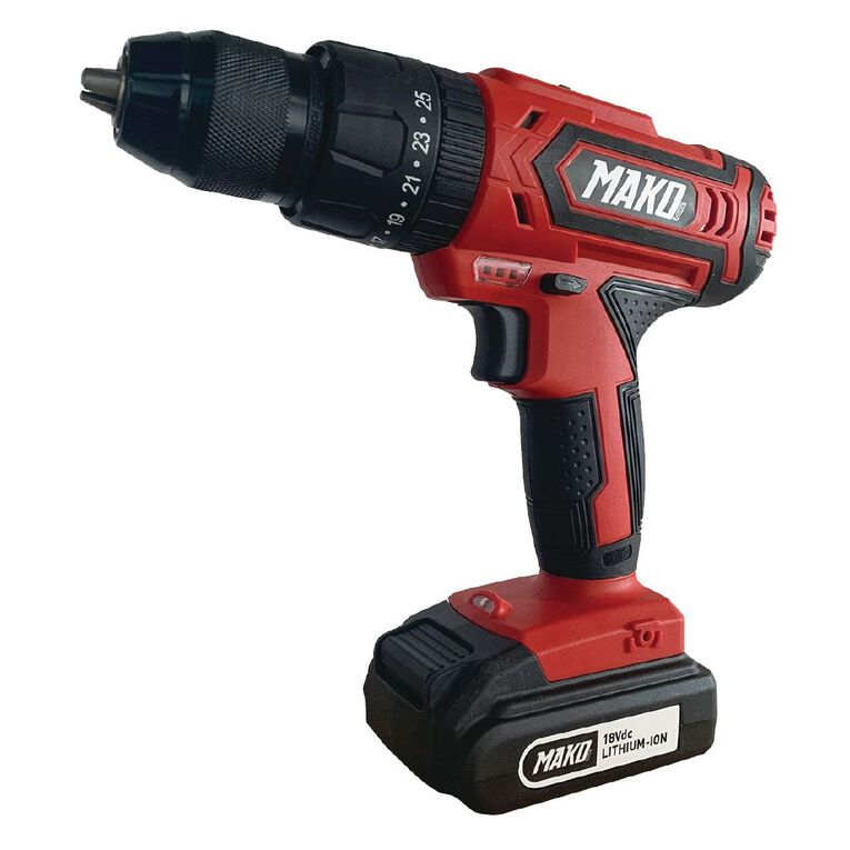 Mako 18v Hammer Drill with 2.0ah Battery and Charger, , hi-res
