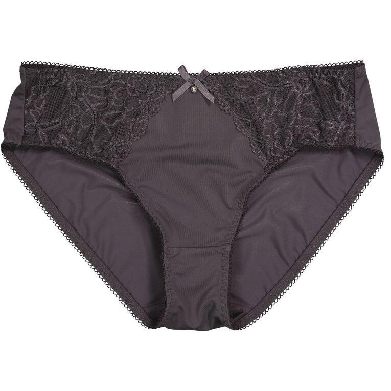 H&H Women's Belle Bikini Briefs, Grey Dark, hi-res