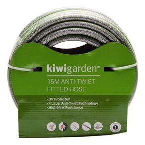 Kiwi Garden Anti-Twist Fitted Hose Green 15m