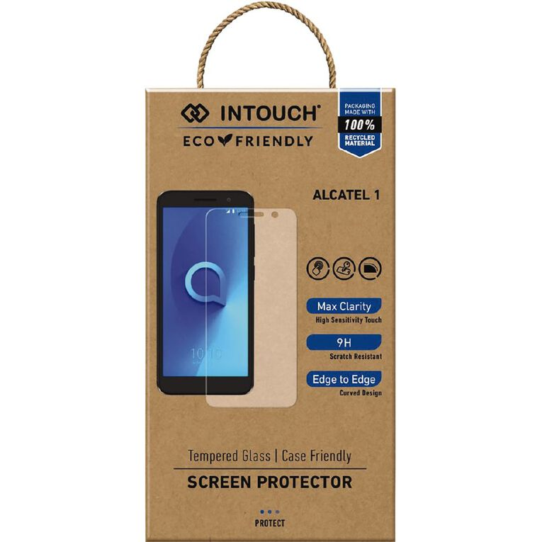 INTOUCH Alcatel 1 Glass Screen Protector Clear, , hi-res