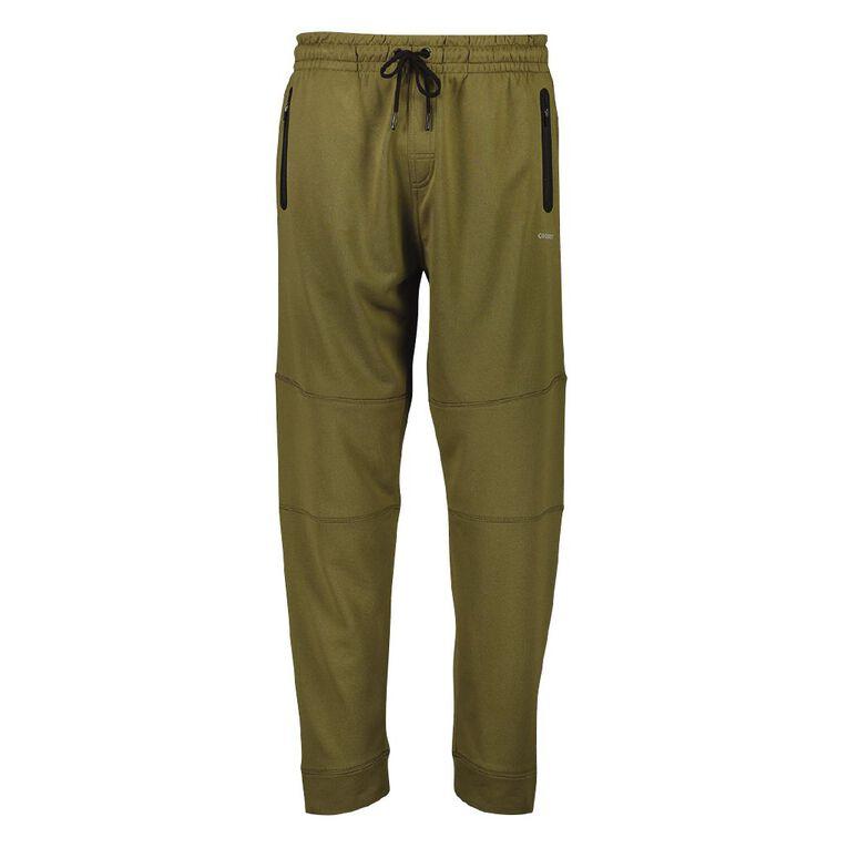 Active Intent Men's Cooldry Panel Pants, Green Dark, hi-res image number null