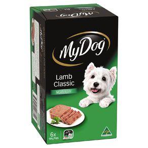 My Dog Wet Dog Food Lamb Classic Meaty Loaf 6 x 100g Trays