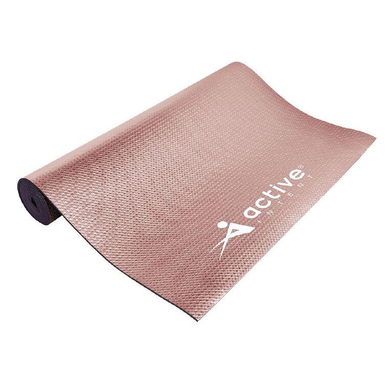 Active Intent Fitness Pink Metalic Yoga Mat, , hi-res