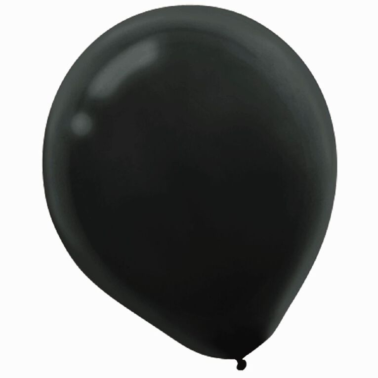 Amscan Latex Balloons 30cm Black 15 Pack, , hi-res