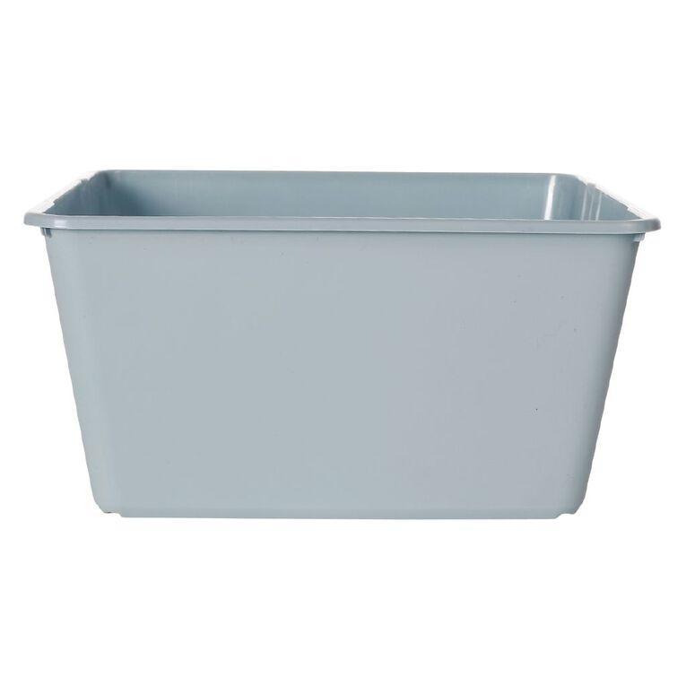 Living & Co Stackable Tub Rectangular Blue 15L, , hi-res