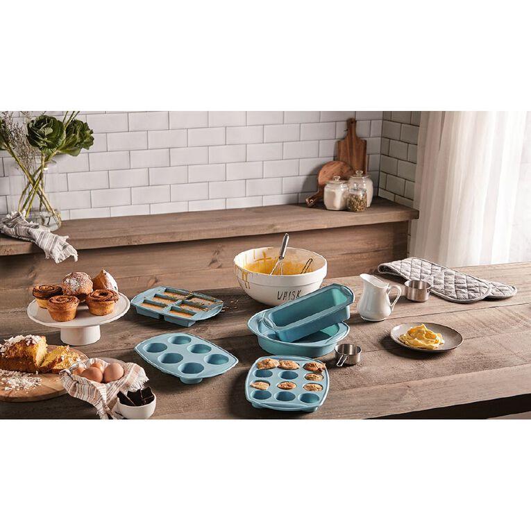 Living & Co Silicone Loaf Pan Aqua, , hi-res