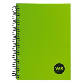 WS Notebook Wiro 200 Pages hard back Green A5