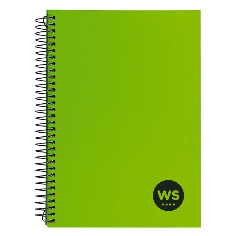 WS Notebook Wiro 200 Pages hard back Green A5, , hi-res