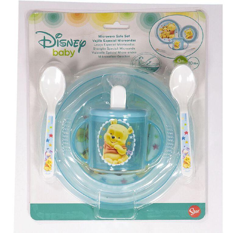 Winnie the Pooh Blue 5pc Feeding Set, , hi-res