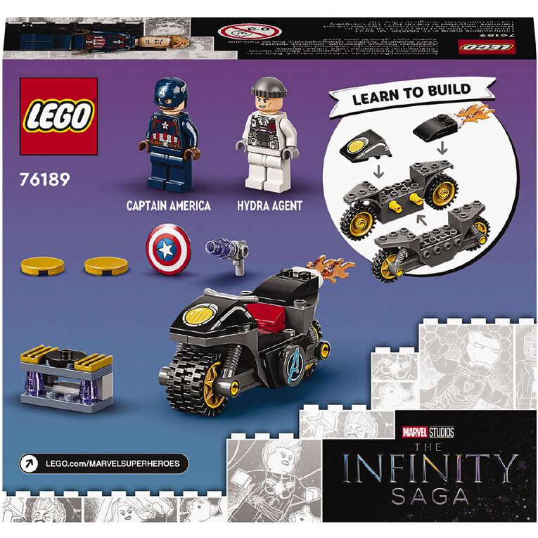 LEGO Super Heroes Captain America and Hydra Face-Off 76189, , hi-res