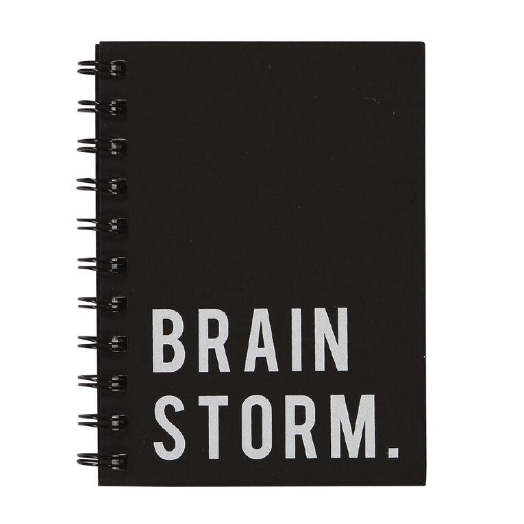 Uniti Craft Spiral Softcover Notebook Black A6, , hi-res