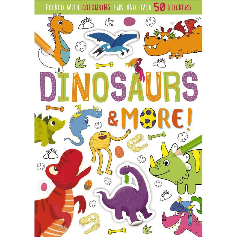 Colouring & Sticker Fun: Dinosaurs & More, , hi-res