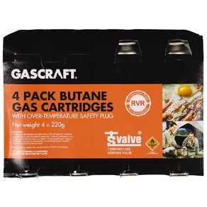 Gascraft Butane 220g 4 Pack