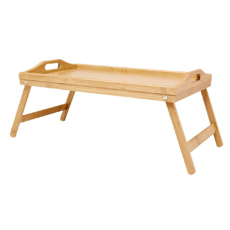 Living & Co Fold Out Wooden Tray Natural, , hi-res