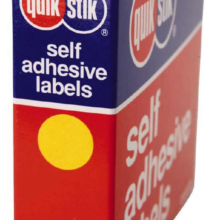 Quik Stik Labels Dots Mc14 1050 Pack Yellow, , hi-res