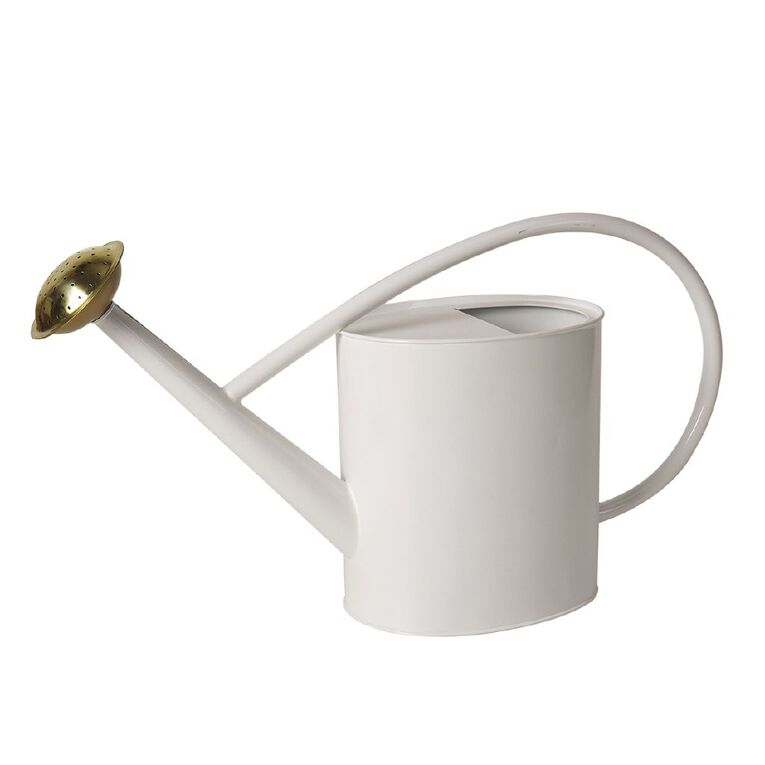 Kiwi Garden Galvanised Watering Can White 5L, , hi-res