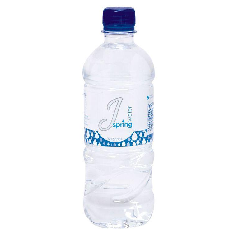 J Still Spring Water Bottle 500ml, , hi-res