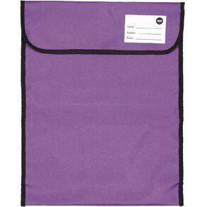 WS Book Bag Large Zipper Pocket Ppl 46x36cm