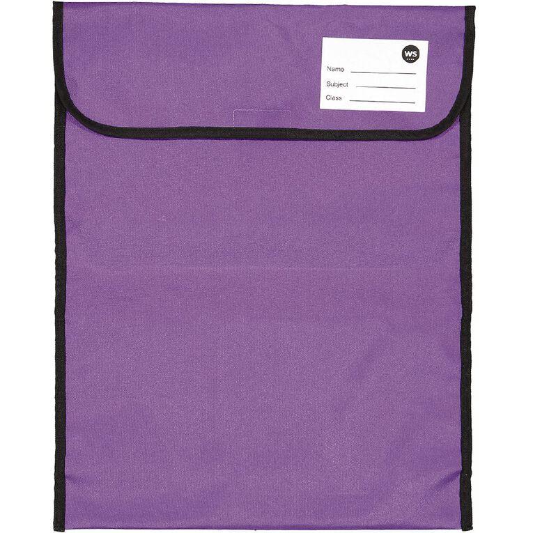 WS Book Bag Large Zipper Pocket Ppl 46x36cm, , hi-res