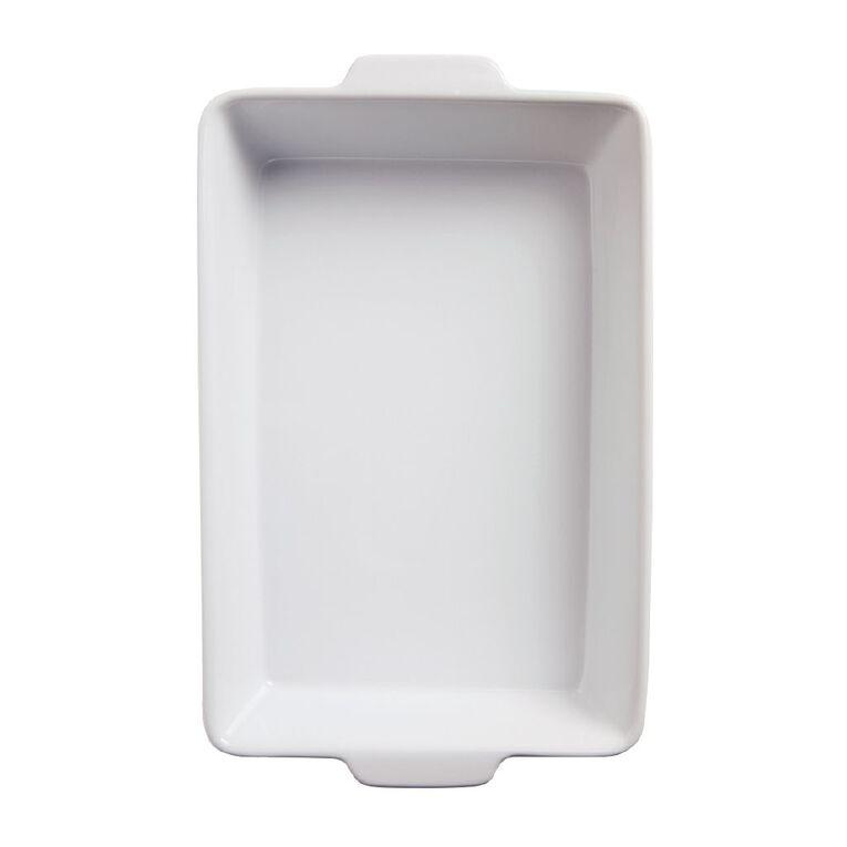 Living & Co Ceramic Baker Rectangle White 40cm x 25cm x 7cm, , hi-res