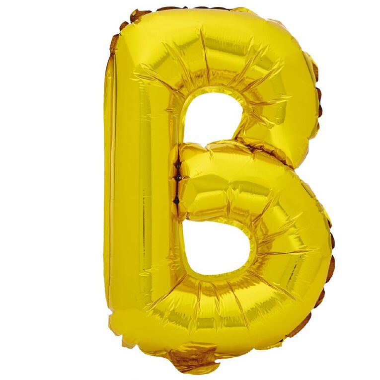 Artwrap Foil Balloon B Gold 35cm, , hi-res