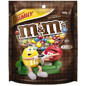 M&M's Milk Chocolate Family Bag 345g