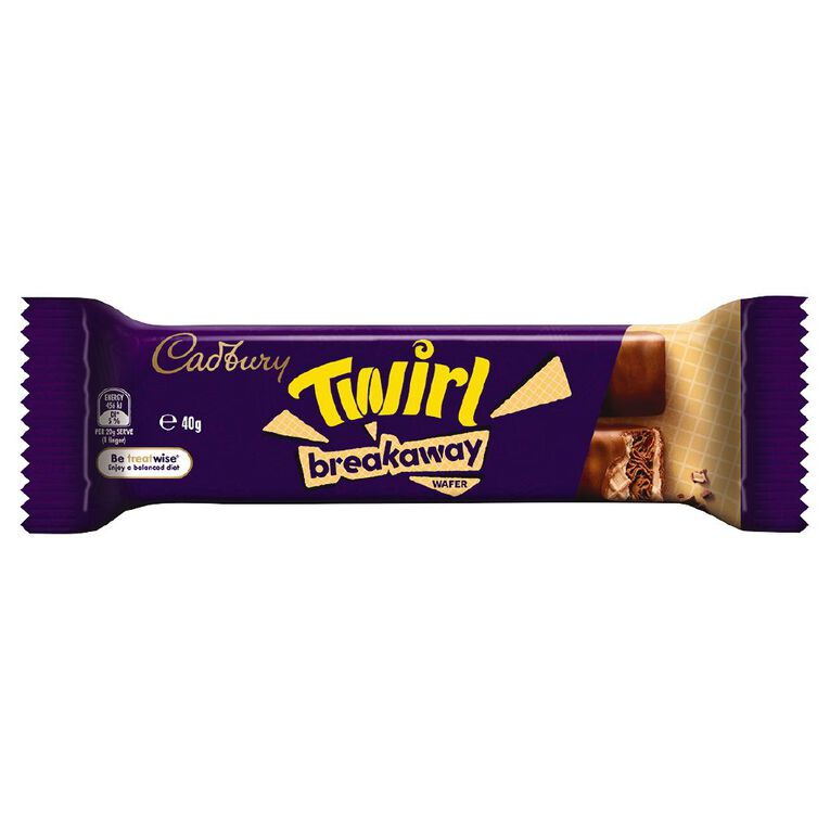 Cadbury Twirl Breakaway Bar 40g, , hi-res image number null