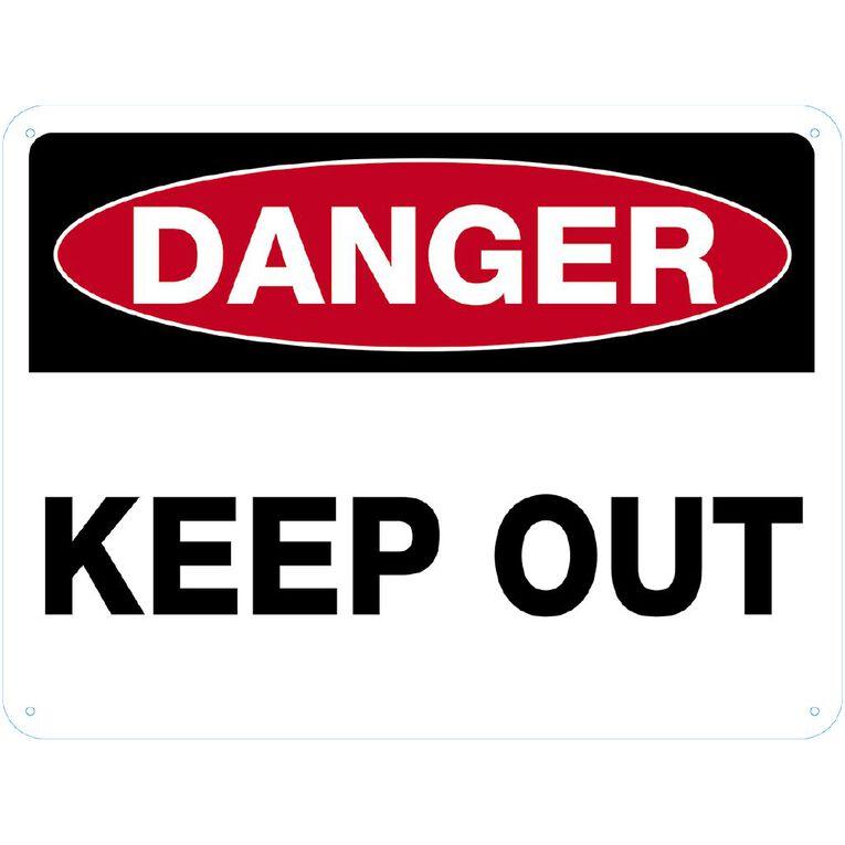 WS Danger Keep Out Sign Large 450mm x 600mm, , hi-res