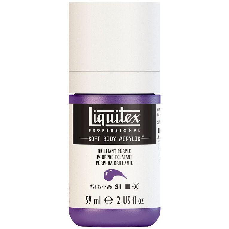 Liquitex Soft Body Acrylic 59ml Brilliant Purple S1, , hi-res image number null