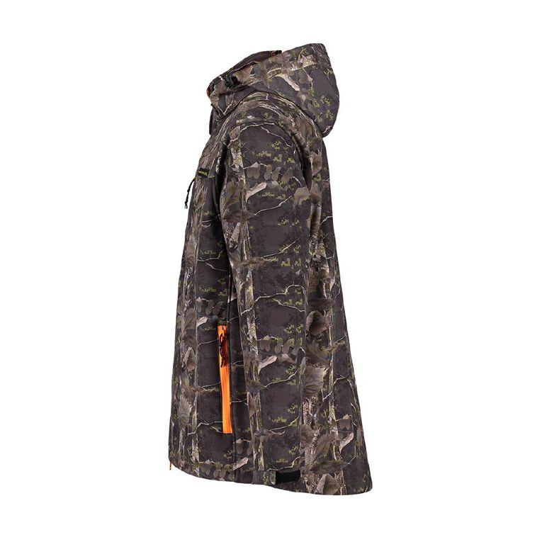 Back Country Soft Shell Hooded Jacket, Orange/Fluro, hi-res
