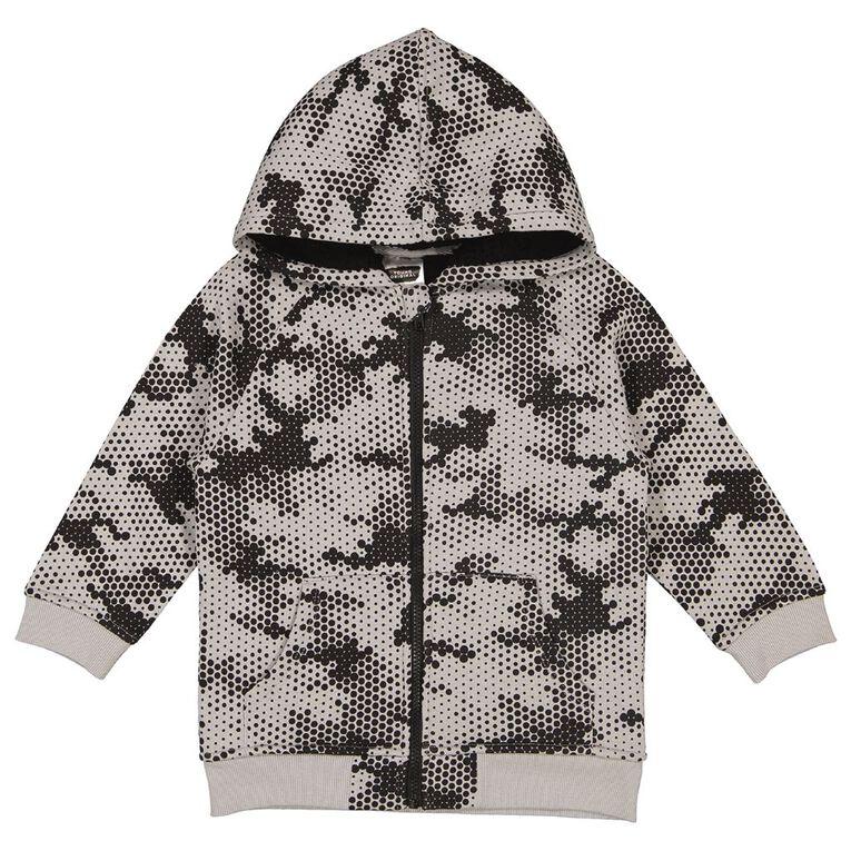 Young Original Sherpa Lined AOP Zip-Thru Hoodie, Grey Dark CAMO, hi-res