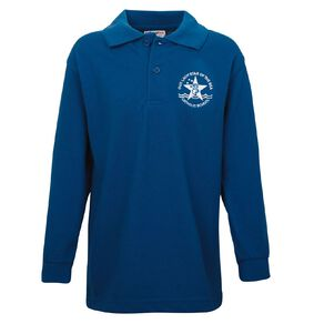 Schooltex Our Lady Star of the Sea Long Sleeve Polo with Embroidery