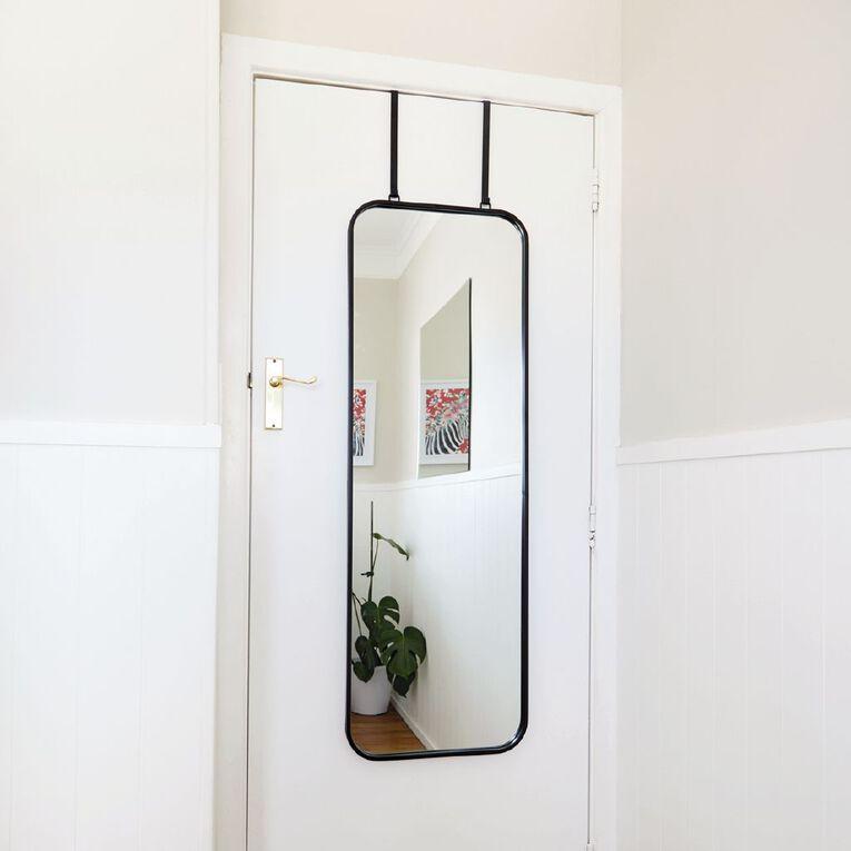 Living & Co Overdoor Versatile Mirror 40X120CM Black, , hi-res