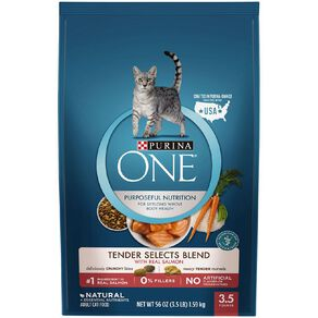 Purina One Cat Tender Select Blend With Salmon 1.59Kg