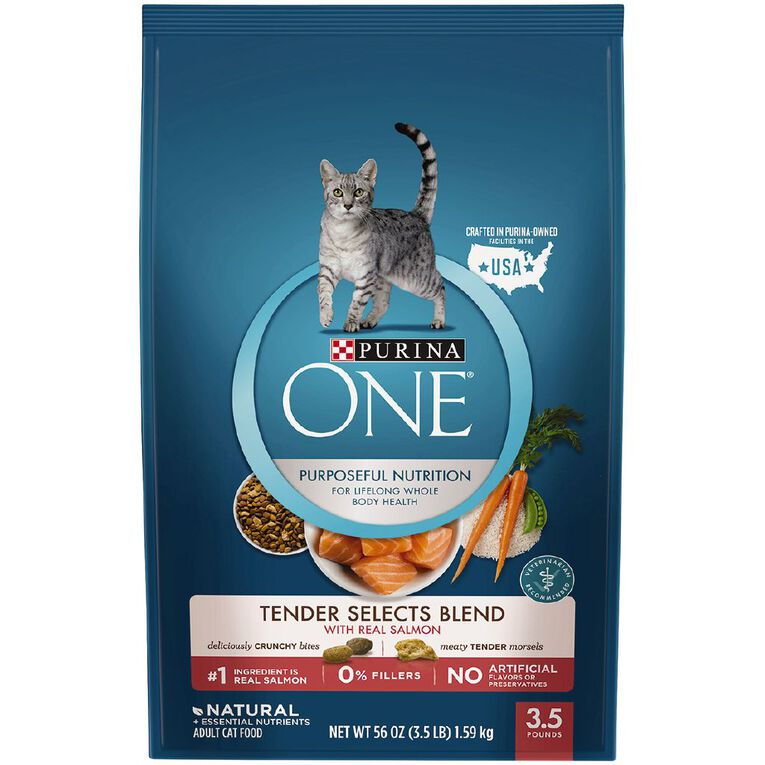 Purina One Cat Tender Select Blend With Salmon 1.59Kg, , hi-res