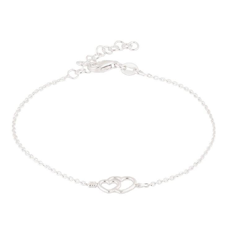 Sterling Silver Cupid Heart Bracelet, , hi-res