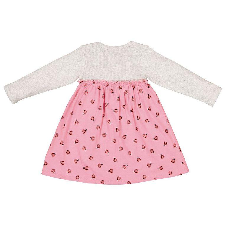 Young Original Baby Romper Rib Dress, Grey Light, hi-res