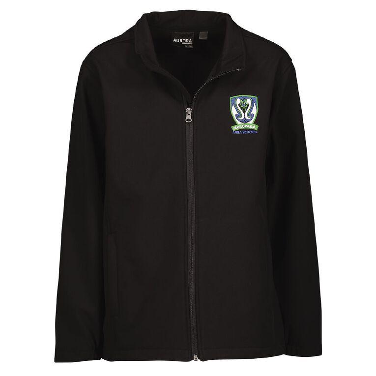 Schooltex Murupara Area Softshell Jacket with Embroidery, Black, hi-res