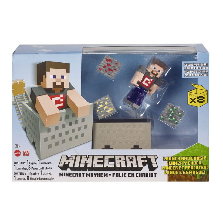 Minecraft 3.25 Inch Minecart Assorted, , hi-res