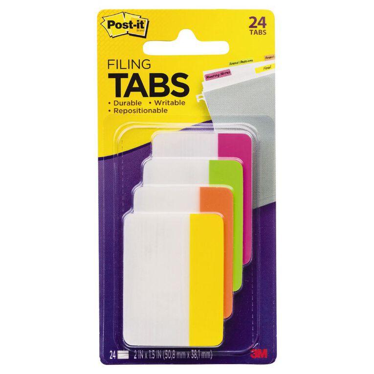 Post-It Filing Tabs 686-Ploy 50.8mm x 38.1mm Brights Assorted, , hi-res