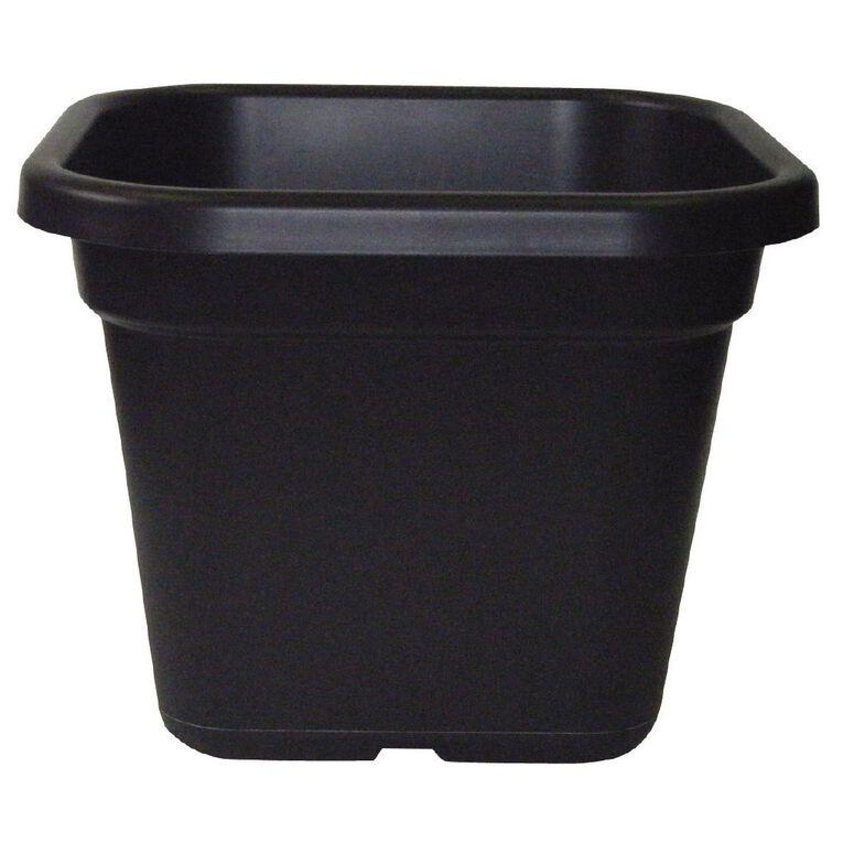 IP Plastics Square Resin Planter Pot 42cm Black 33L, , hi-res