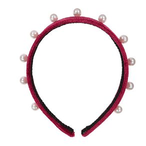 Royalty Collection Maroon Head Band