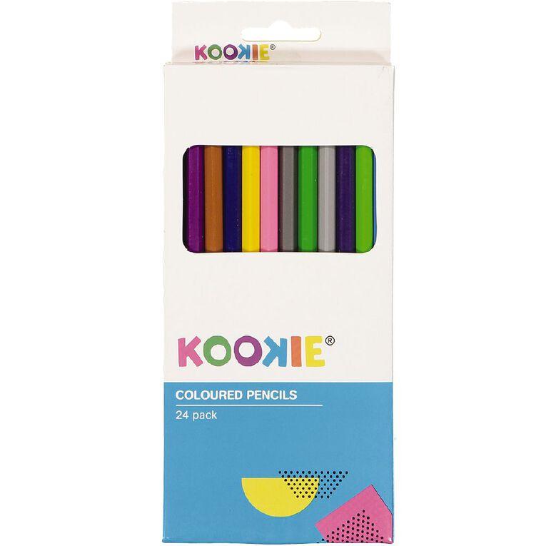 Kookie Coloured Pencils 24 Pack, , hi-res