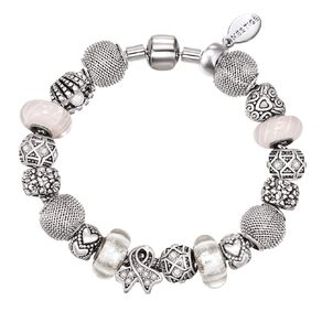 Mestige Silver Plated Welcoming Bracelet with Swarovski Crystals