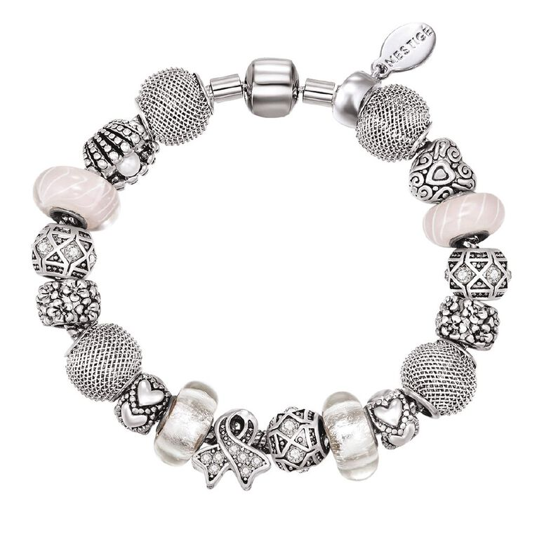 Mestige Silver Plated Welcoming Bracelet with Swarovski Crystals, , hi-res